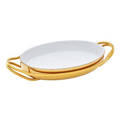 Pirofila ovale con supporto