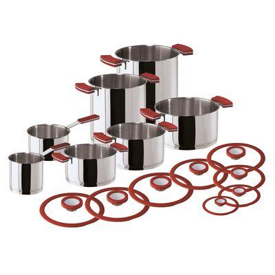 Batteria di pentole 18 pezzi
